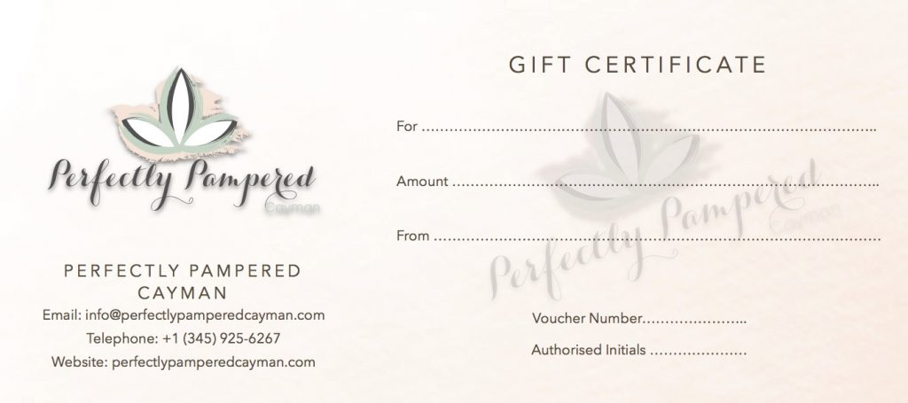 Gift Certificate Perfectly Pampered Cayman