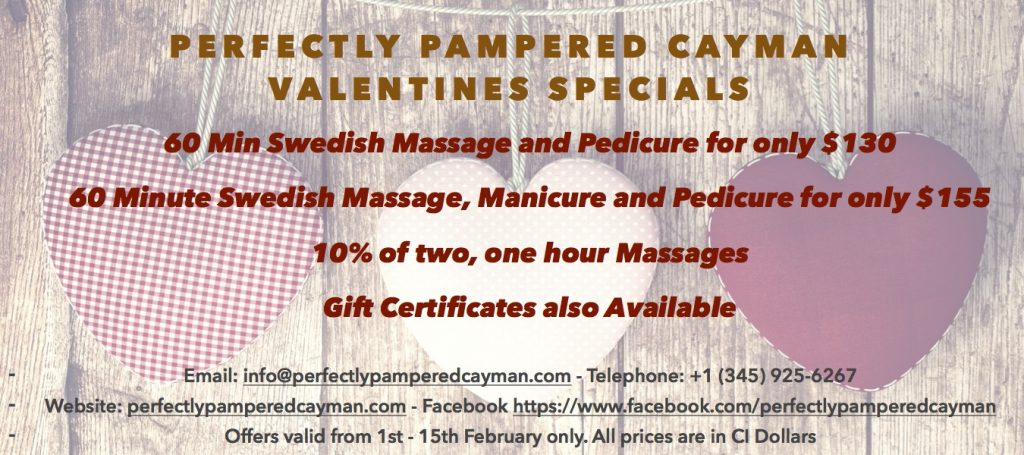 Perfectly Pampered Valentines Special Offers