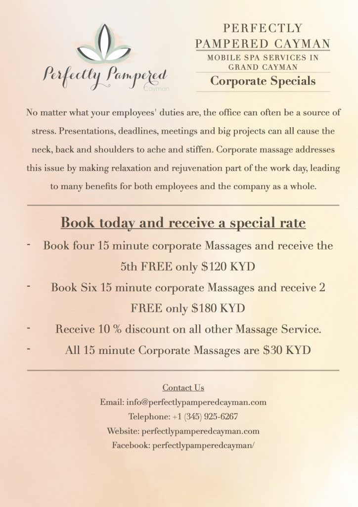 Perfectly Pampered Corporate Massage Cayman