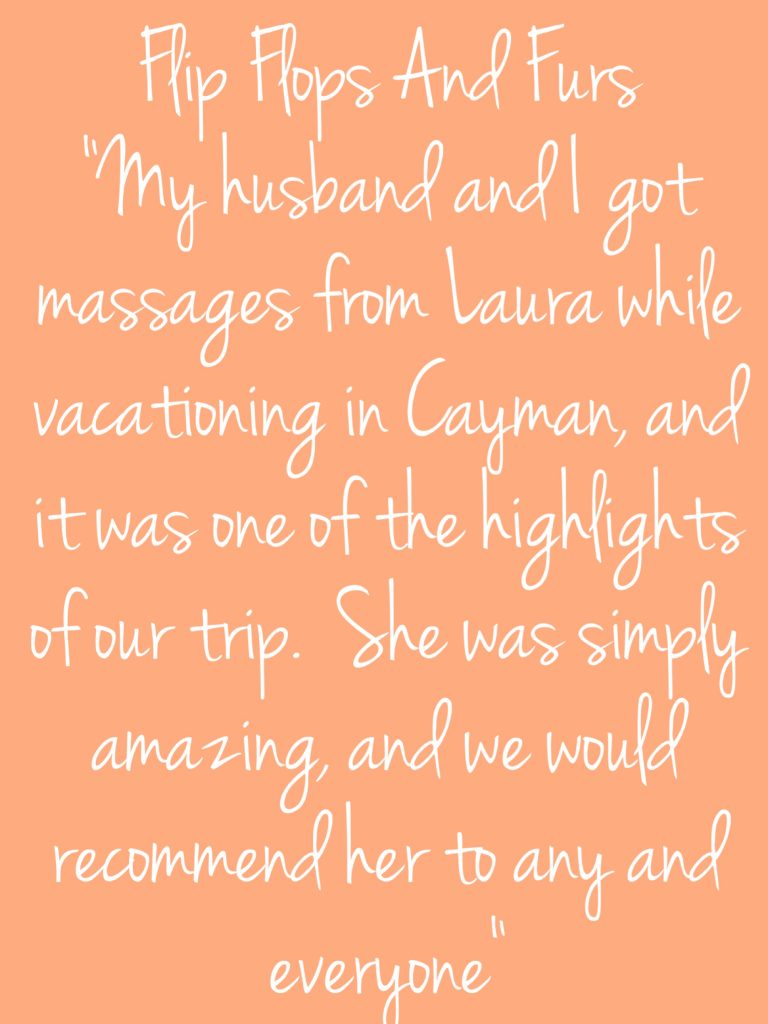 Testimonials - Perfectly Pampered Mobile Massage Cayman and Spa