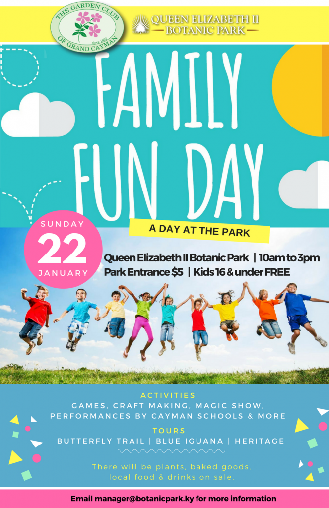 Family fun day at botanical park grand cayman cayman islands - Family days enero 2017 ...