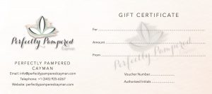 Cayman Gift Certificates - Perfectly Pampered Cayman