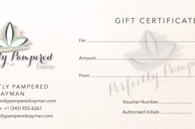 Perfectly Pampered Cayman Gift Certificates