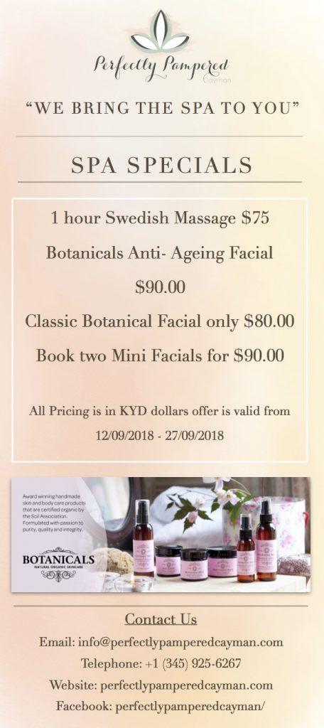 Facial and Massage September Spa Specials