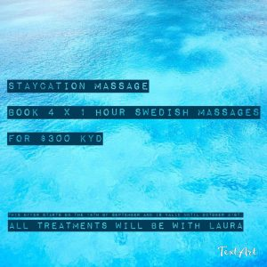 Cayman Staycation Massages Offers