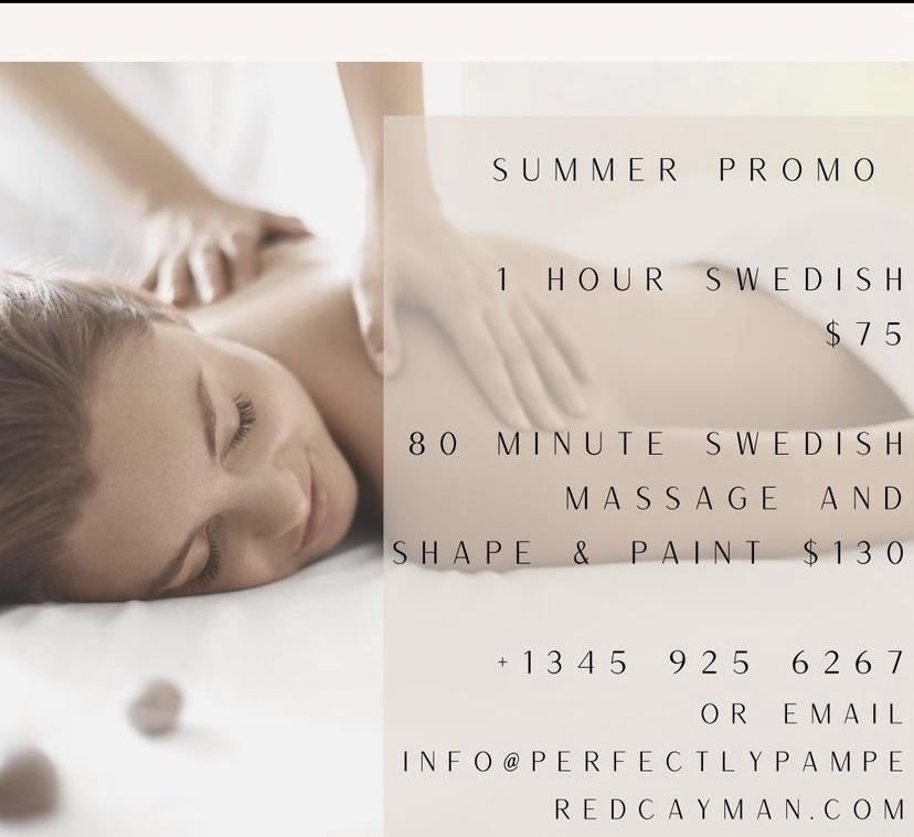 Summer Massage Promo   Grand Cayman